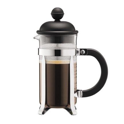 Bodum Кофейник с прессом Caffettiera 0.35л черный 1913-01 Bodum bodum кофейник с прессом caffettiera 0 35 л кремовый