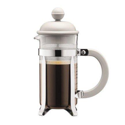 Bodum Кофейник с прессом Caffettiera (0.35 л), белый 1913-913 Bodum bodum кофейник с прессом chambord 0 35 л с медным покрытием