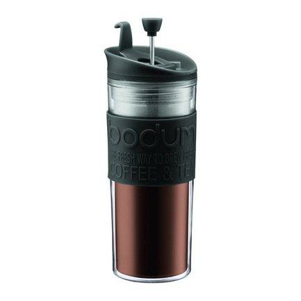 Bodum Кофейник с прессом Travel (0.45 л), черный 11100-01 Bodum