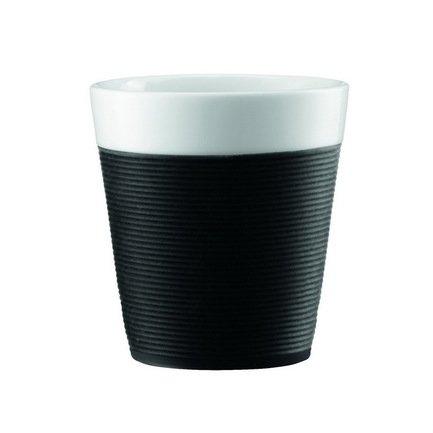 Bodum Набор кружек Bistro с силиконовым ободком 0.17л, 2 шт., черн. 11581-01 Bodum