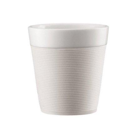 Bodum Набор кружек Bistro с силиконовым ободком 0.17 л., 2 шт., белые 11581-913 Bodum