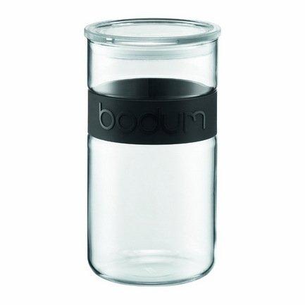 Банка для хранения Presso (2 л), черная 11130-01 Bodum банка для ферментирования квашеной капусты mortier pilon 2 л