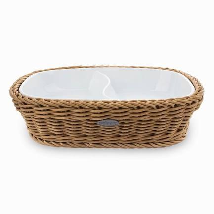 Westmark Менажница, 22.5х16.5х5.5 см, в бежевой корзинке 021016 041 60 Westmark набор для пикника в плетеной корзинке picnic