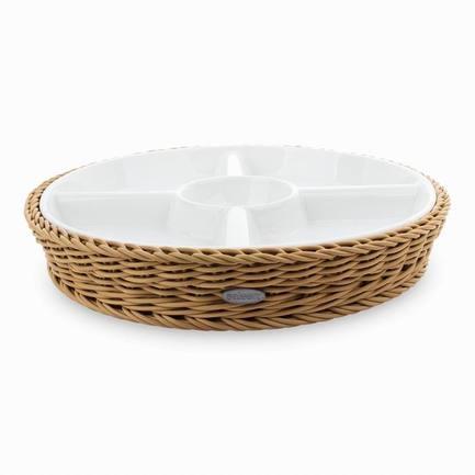 Westmark Менажница, 28.5х4.5 см, в бежевой корзинке 021020 041 60 Westmark набор для пикника в плетеной корзинке picnic