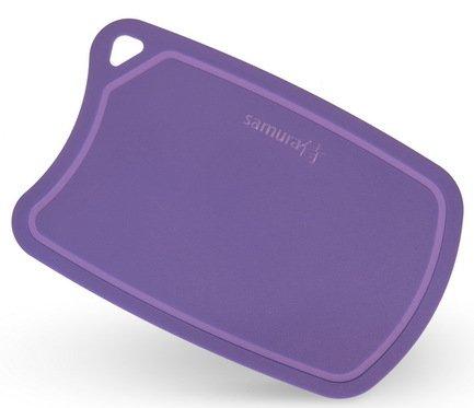 все цены на  Samura Доска Samura термопластиковая, 38х25х0.2 см, фиолетовая  в интернете