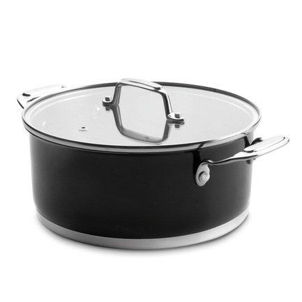 Lacor Кастрюля Cookware Black с крышкой (2.8 л), 20 см 44020 Lacor аквариум с крышкой акваэль элит f фигурный с крышкой 115 л 80х35х43 см