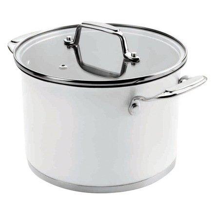 Lacor Кастрюля Cookware White с крышкой (4.2 л), 20 см 43120 Lacor lacor кастрюля широкая с крышкой belly 16 см 2 2 л
