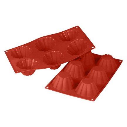 Silikomart Форма для 6 кексов, 8 см, 6 шт., терракотовая SF 034-PB Silikomart silikomart eggset 2d