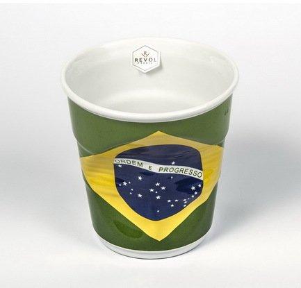 Revol Мятый стакан для фуршета (1 л), флаг Бразилии (FR04100-1-2074) revol 400