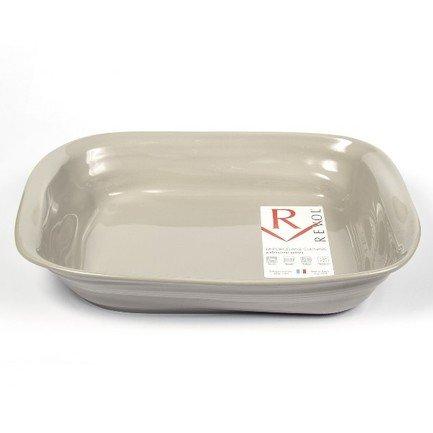 Revol Прямоугольное блюдо Фруаз 38 см, темно-серое (FR0738-131) 00034894 Revol revol салатник фруаз 4 л 32 см баклажан fr14400 155 00034917 revol