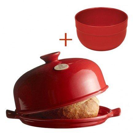 Emile Henry Набор из формы для выпечки хлеба и салатника, 21.5 см, гранат, 2 пр.