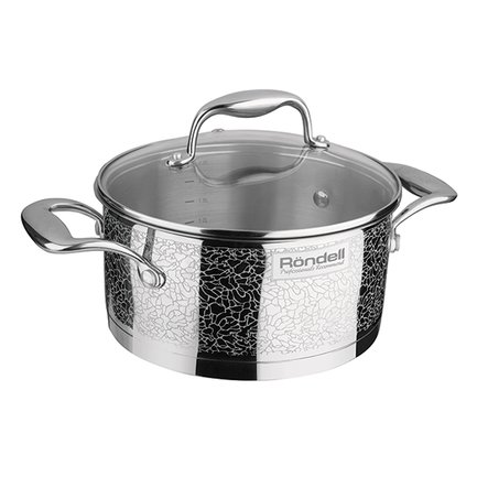 Rondell Кастрюля Vintage (3 л), 20 см, с крышкой RDS-343 Rondell кастрюля pyrex o cuisine 3 л с крышкой