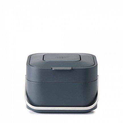 Контейнер для пищевых отходов Stack 4, 23.5х16х19.7 см, графит