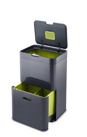 Joseph&Joseph Контейнер для сортировки мусора Totem (48 л), 40х66х30 cм, графит 30020