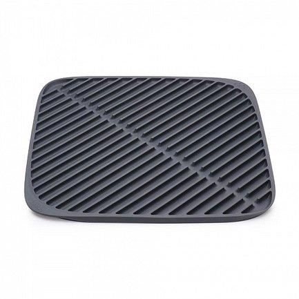 Коврик для сушки посуды Flume маленький, 31.5х31.5 см, серый 85087 Joseph &