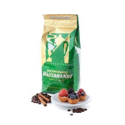Hausbrandt Кофе в зернах без кофеина, 1 кг, вакуумная упаковка 521 Hausbrandt кофе parenti кофе в зернах