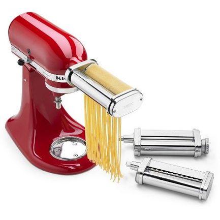 KitchenAid Насадка ножи роликовые для раскатки теста и нарезки спагетти 5KSMPRA KitchenAid насадка для кухонного комбайна kitchenaid набор насадок для пасты 5ksmpra