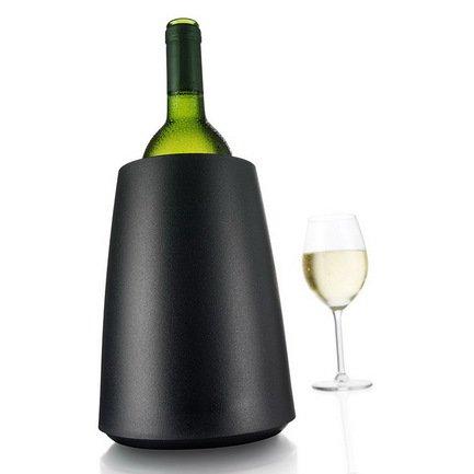 VacuVin Охладительная рубашка RI Wine Cooler Elegant для бутылок вина объемом 0.75 л, чёрная