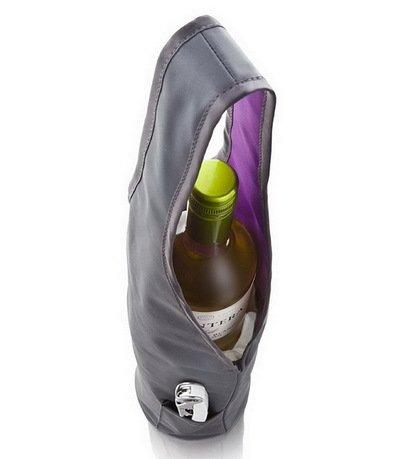VacuVin Сумка под бутылку и охладительная рубашку Bottle Bag & Cooler 3621360 VacuVin vacuvin сумка под бутылку и охладительная рубашку bottle bag