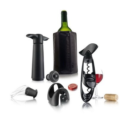 VacuVin Набор для вина продвинутого уровня Wine Set Experienced, 6 пр. 69001606 VacuVin wine pourer wine drip stop ring stopper corkscrew opener with foil cutting knife set
