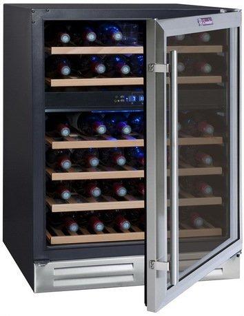 Винный шкаф двухзонный, на 45 бутылок, чёрный CVDE46-2 La Sommeliere