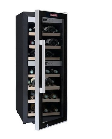 Винный шкаф двухзонный, на 38 бутылок, 7 выдвижных полок из бука от Superposuda