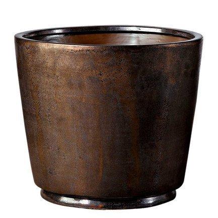 Deroma Кашпо Crystal Vaso Black Rust, коричневое, 50x43 см купить steam аккаунт rust онлайн магазин