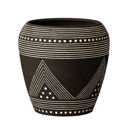 Deroma Кашпо Mali Rosenpot Black, черное, 16.5x17.5 см 34102A Deroma