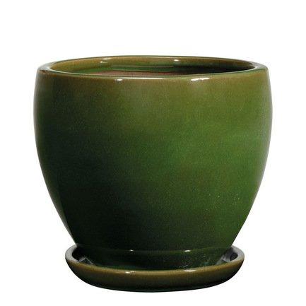 Deroma Кашпо Sylphe Vaso Verde, зеленое, 27x24 см
