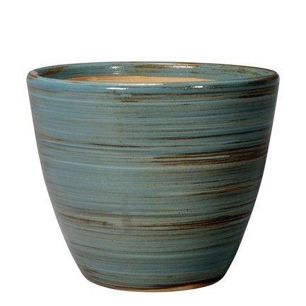 Deroma Кашпо Rainbow Vaso Blu, голубое, 27x21 см 40M24/C1