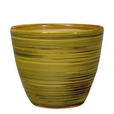 Deroma Кашпо Rainbow Vaso Giallo, желтое, 34x27 см 40M24/D2