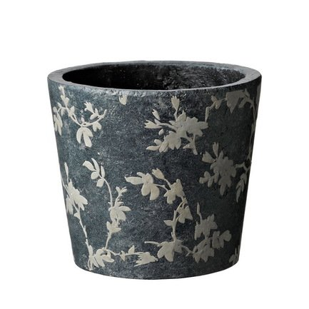 Deroma Кашпо Tea Vaso Grey, серое, 15x13 см 5700010A Deroma deroma кашпо narciso orchid black черное 11 5x15 см 5700170a deroma