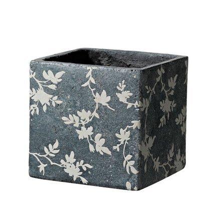 Deroma Кашпо Tea Quadro Grey, темно-серое, 13x12.5 см 5700020A Deroma deroma кашпо lace quadro lavanda сиреневое 18x16 см 175258a deroma