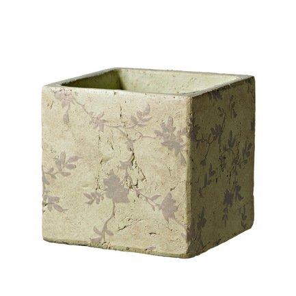 Deroma Кашпо Tea Quadro Beige, бежевое, 15.5x15 см 5700021B Deroma deroma кашпо lace quadro white белое 18x16 см 175254a deroma