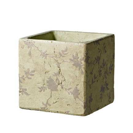 Deroma Кашпо Tea Quadro Beige, бежевое, 15.5x15 см 5700021B Deroma deroma кашпо lace quadro lavanda сиреневое 18x16 см 175258a deroma