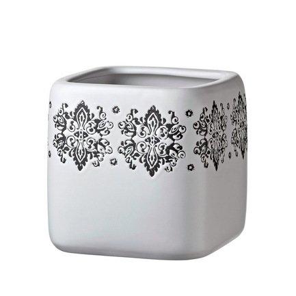 Deroma Кашпо Gipsy Quadro White, белое, 16x16.5 см 5700040B Deroma deroma кашпо lace quadro white белое 18x16 см 175254a deroma