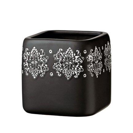Deroma Кашпо Gipsy Quadro Black, черное, 16x16.5 см 5700041B Deroma косметика для мамы сто рецептов красоты крем для рук и ногтей увлажнение и свежесть 80 мл