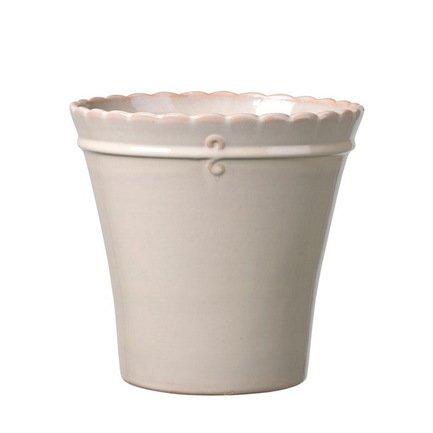 где купить Deroma Кашпо Macrame Vaso Cream, кремовое, 17x16 см 34013B/1 Deroma по лучшей цене