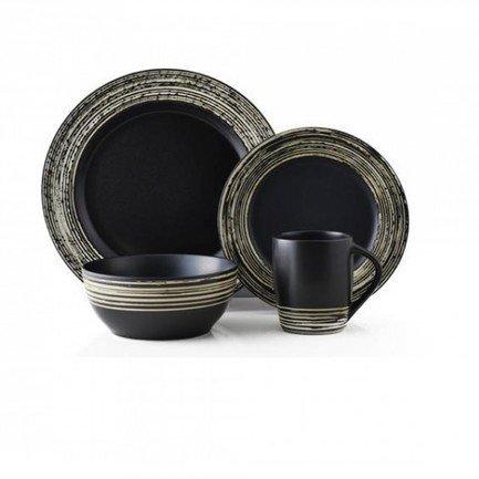 Thomson Pottery Обеденный сервиз Луми на 4 персоны, черный, 16 пр. (202611) 00030348
