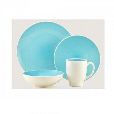 Thomson Pottery Обеденный сервиз Ови на 4 персоны, бирюзовый, 16 пр. (204278) 00030354