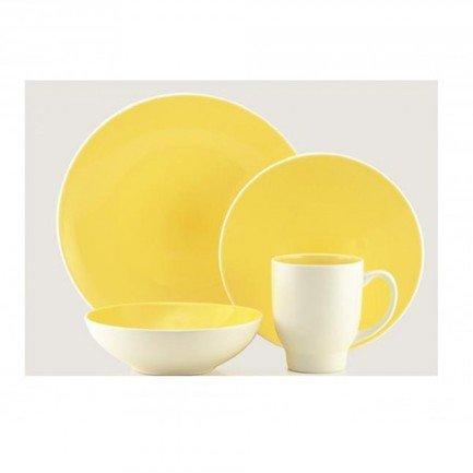 Thomson Pottery Обеденный сервиз Ови на 4 персоны, лимонный, 16 пр. (204280) 00030355