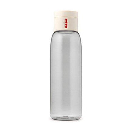 Joseph&Joseph Бутылка для воды Dot (0.6 л), 23.5х7 см, белая joseph