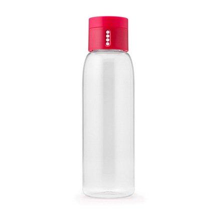 Joseph&Joseph Бутылка для воды Dot (0.6 л), 23.5х7 см, розовая бутылка для воды dot 600 mл серая