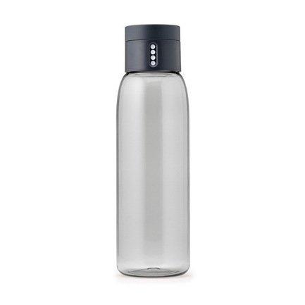 Joseph&Joseph Бутылка для воды Dot (0.6 л), 23.5х7 см, серая