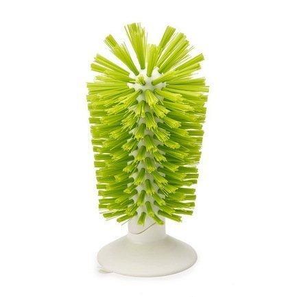 Joseph&Joseph Щетка для стаканов на присоске Brush-up, 14.2х8 см, зеленая