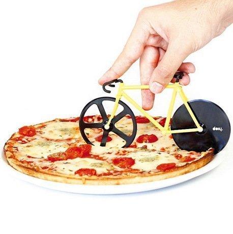 Doiy Нож для пиццы Fixie, 12x22.5x4 см, желто-черный DHFPCBB