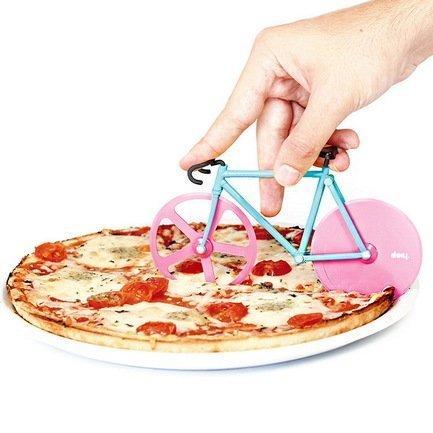 Doiy Нож для пиццы Fixie, 12x22.5x4 см, мята-розовый DHFPCWM