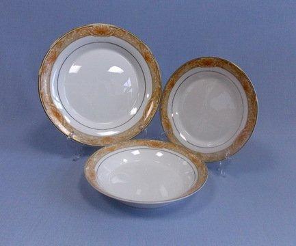 Takito Набор тарелок Аквамарин на 6 персон, 18 пр.