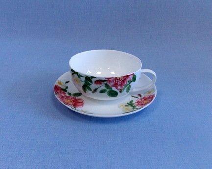 Takito Чашка с блюдцем Цветущий шиповник (350 мл)