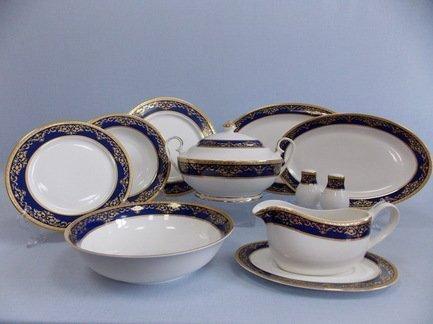 Takito Сервиз столовый Элегия в кобальте на 6 персон, 27 пр. чайный сервиз 23 предмета на 6 персон bavaria кёльн b xw213y 23